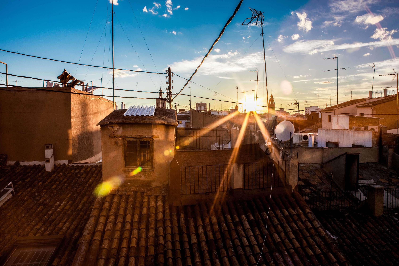 Vistas desde la terraza al casco antiguo de Valencia